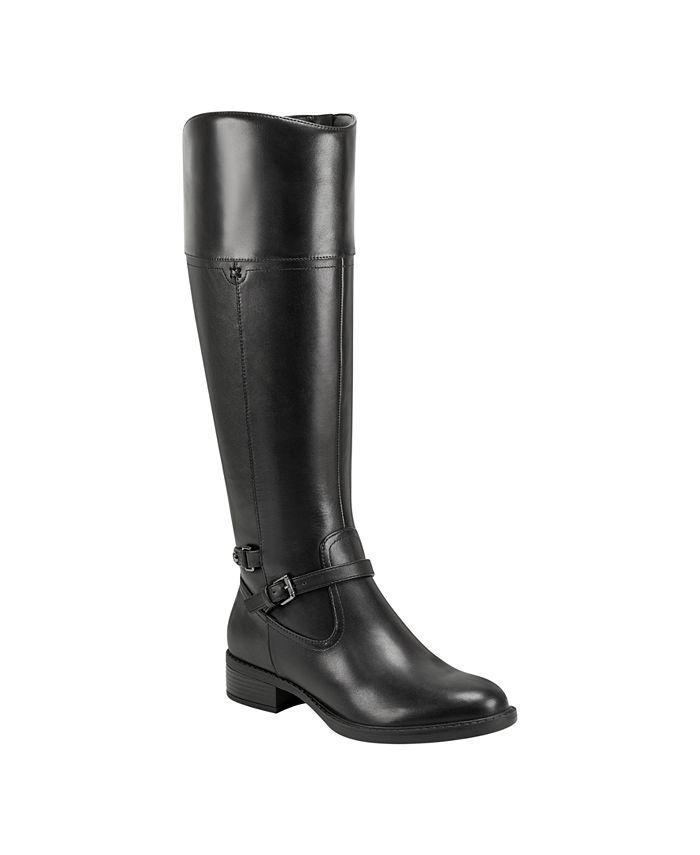 Easy Spirit - Leigh Suede Wide Calf Riding Boot