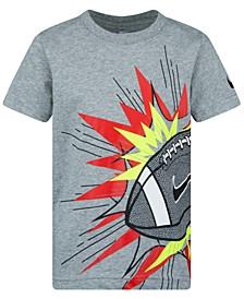 Little Boys Football-Print Cotton T-Shirt