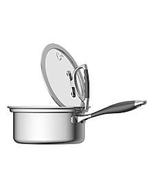 CookCraft by Candace 3 Quart Sauce Pan with Glass Latch Lid
