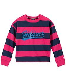 Big Girls Striped Sweatshirt