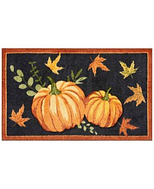 "Nourison Black Pumpkin 18"" x 30"" Accent Rug"