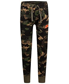 Toddler Boys Camo-Print Fleece Jogger Pants