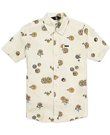 Volcom Big Boys Peace Stone Printed Shirt