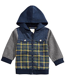 Baby Boys Hooded Patchwork Jacket, Created for Macy's