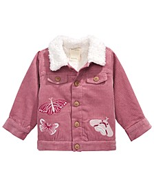 Baby Girls Embroidered Corduroy Jacket, Created for Macy's