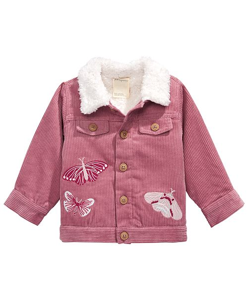 First Impressions Baby Girls Embroidered Corduroy Jacket, Created for Macy's
