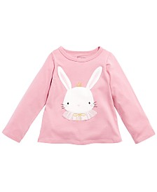 First Impessions Toddler Girls Cotton Bunny T-Shirt, Created for Macy's