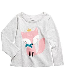 First Impressions Baby Girls Fox T-Shirt, Created for Macy's