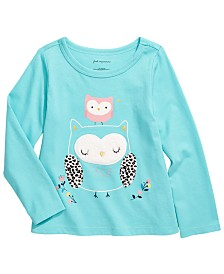 First Impressions Toddler Girls Cotton Owl T-Shirt, Created for Macy's