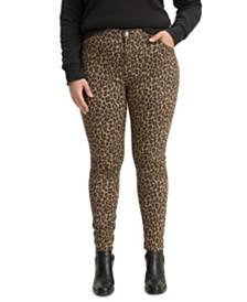 Levi's® 720 Plus Size Leopard-Print Super-Skinny Jeans