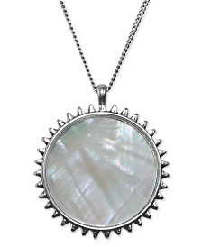 """Lucky Brand Two-Tone Reversible Long Pendant Necklace, 30"""" + 2"""" extender"""