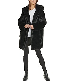 Hooded Faux-Fur Coat