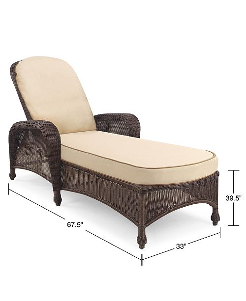 Monterey Wicker Outdoor Chaise Lounge