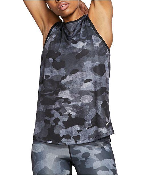 Nike Women's Dri-FIT Camo Tank Top