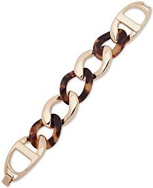 Lauren Ralph Lauren Gold-Tone & Tortoise-Look Link Bracelet