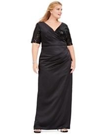 Adrianna Papell Plus Size Sequin Gown