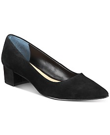 Alfani Women's Step N' Flex Cashh Low Block-Heel Pumps, Created For Macy's