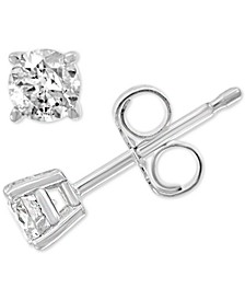 EFFY® Diamond Stud Earrings (1/3 ct. t.w.) in 14k White Gold