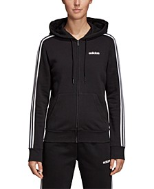 Essential Fleece 3-Stripe Zip Hoodie