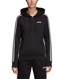 adidas Essential Fleece 3-Stripe Zip Hoodie