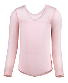 Flo Dancewear Little & Big Girls Sparkle-Mesh Leotard
