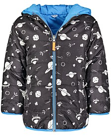 Toddler Boys Reversible Galaxy-Print Hooded Jacket