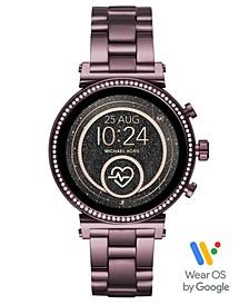 Access Women's Sofie Heart Rate Lavender Stainless Steel Bracelet Touchscreen Smart Watch 41mm