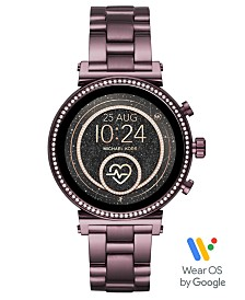Michael Kors Access Women's Lavender Stainless Steel Bracelet Touchscreen Smart Watch 41mm