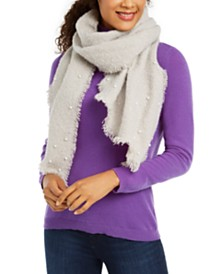 I.N.C. Faux-Pearl-Embellished Bouclé Bias Wrap, Created for Macy's