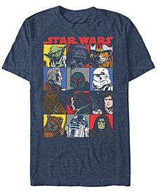 Men's Classic Comic Character Squares Short Sleeve T-Shirt