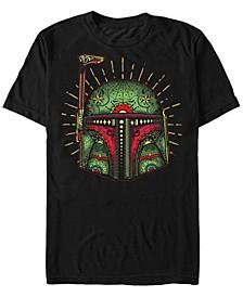 Men's Boba Big Face Sugar Skull Short Sleeve T-Shirt