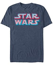 Men's Classic 3D Dot Title Logo Short Sleeve T-Shirt
