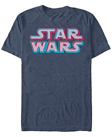 Star Wars Men's Classic 3D Dot Title Logo Short Sleeve T-Shirt
