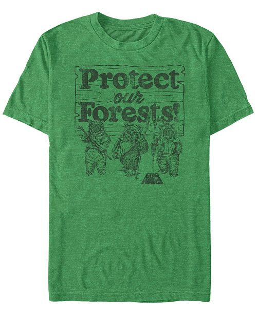 Star Wars Men's Ewok Protect Our Forests Short Sleeve T-Shirt