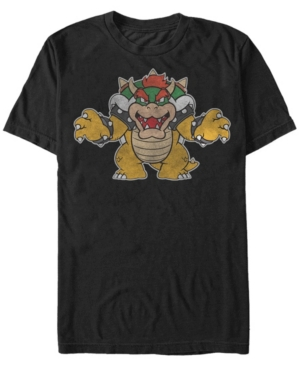 Nintendo Men's Super Mario Just Bowser Short Sleeve T-Shirts