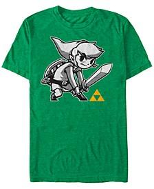 Men's Legend of Zelda Link Sword Pose Short Sleeve T-Shirt