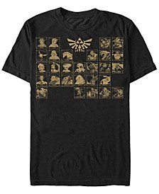Men's Legend of Zelda Periodic Table of Characters Short Sleeve T-Shirt