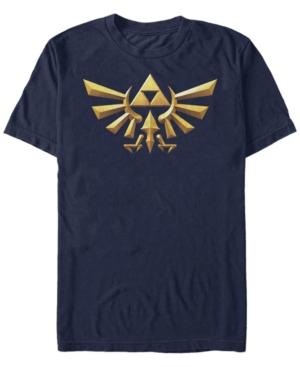 Nintendo Men's Legend of Zelda 3D Crest Short Sleeve T-Shirt