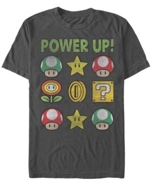 Nintendo Men's Super Mario Power Up Short Sleeve T-Shirt