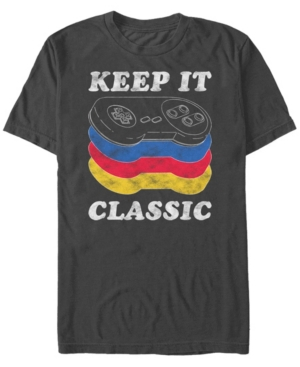 Nintendo Men's Snes Keep It Classic Controller Short Sleeve T-Shirt