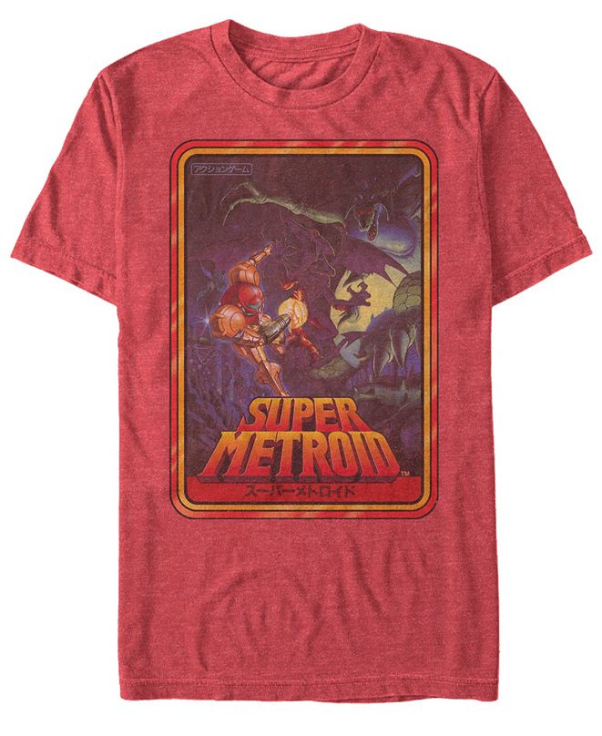 Nintendo Men's Metroid Playing Card Short Sleeve T-Shirt