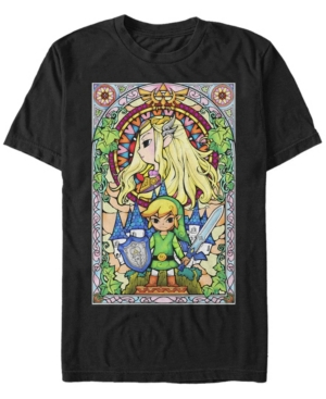 Nintendo Men's Legend of Zelda Wind Waker Link Regal Glass Short Sleeve T-Shirt