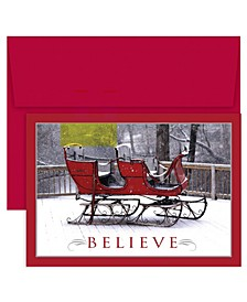Masterpiece Studios Believe Sleigh Holiday Boxed Cards