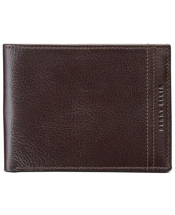 Perry Ellis Men's RFID Leather Wallet