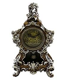 Floral Design Table Clock