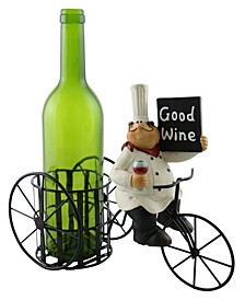 Old Chef with Sign Wine Bottle Holder