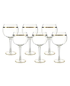 6 Piece Set of Wine Glasses