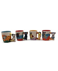 Animal Mugs 4 Piece
