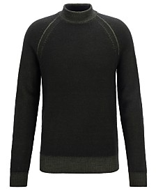 BOSS Men's Mock-Neck Sweater