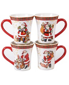 Certified International Vintage Santa 4-Pc. Mug
